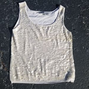 Newport News jeanology collection sequin tank top